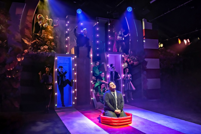 Scott Paige and the cast of Seussical The Musical, Southwark Playhouse - courtesy of Adam Trigg